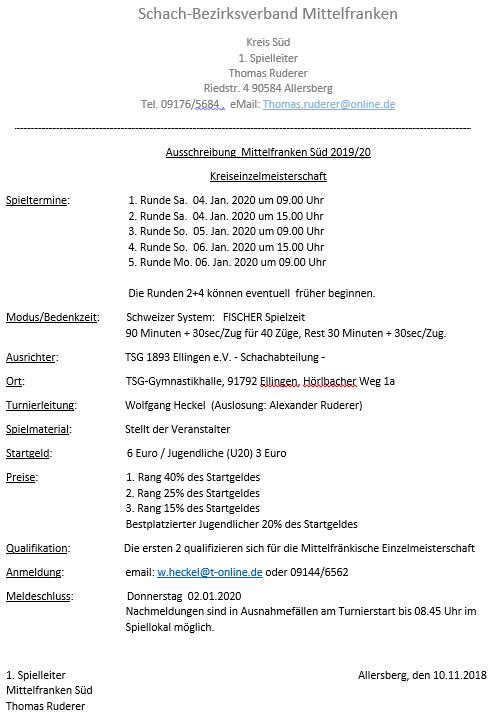 Kreis-Einzelmeisterschaft @ TSG-Gymnastikhalle Ellingen | Heideck | Bayern | Deutschland