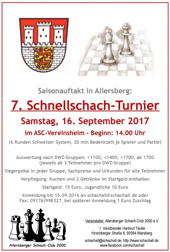 Flyer Schnellschach 2017