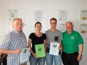 Seit vielen Jahren im ASC und in den Mannschaften: Hermann, Susanne, Manuel